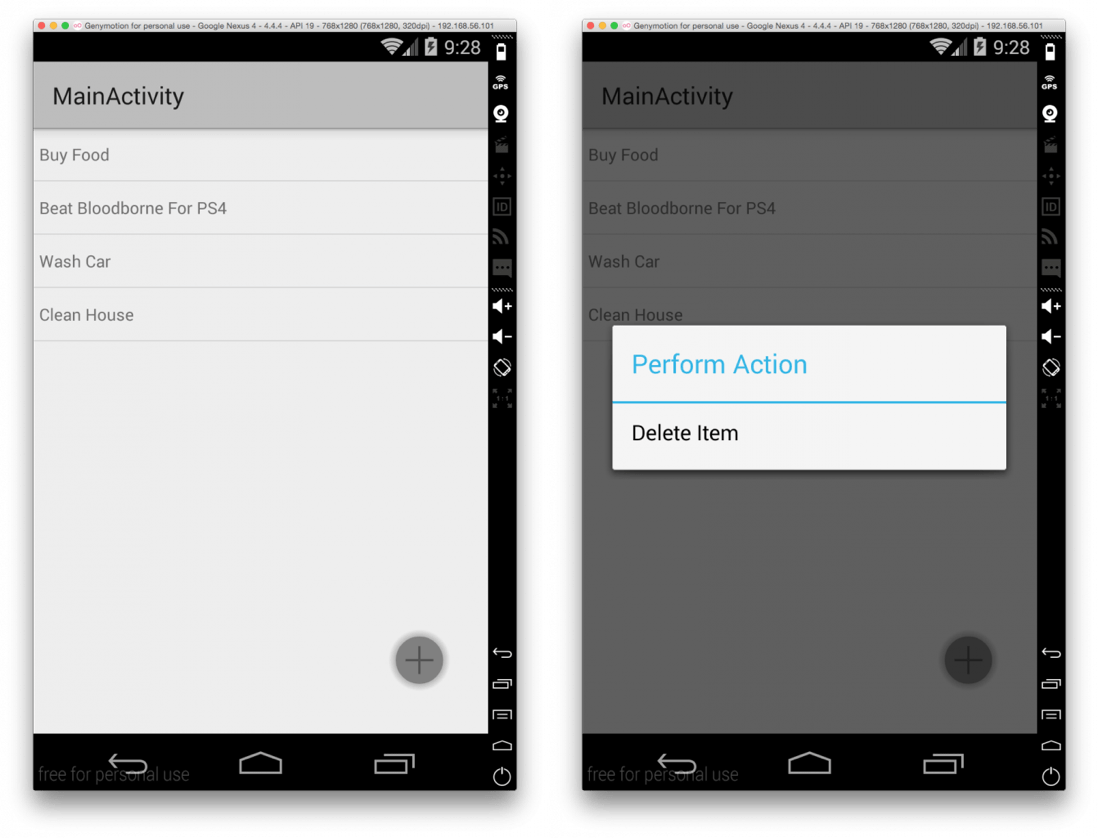 Android Couchbase Lite Todo List