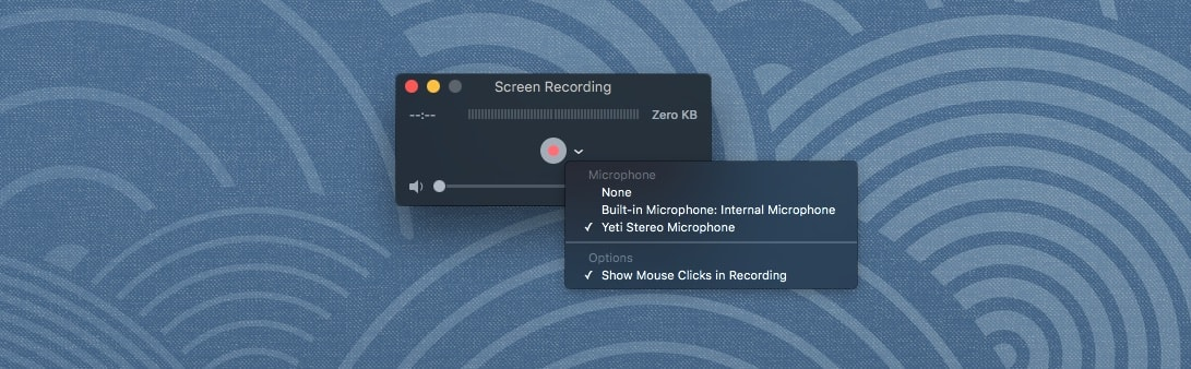 QuickTime Screen Recording Dialog