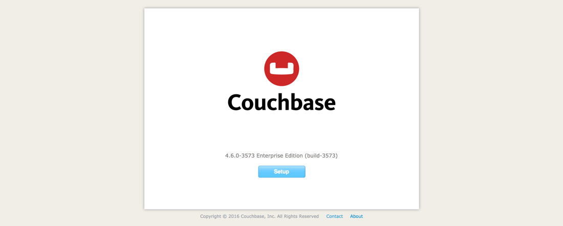 Couchbase 4 Configuration Step 0
