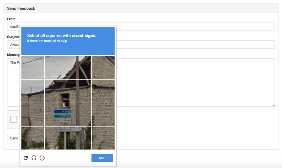 Validate Form Submissions In Node js With Google reCAPTCHA