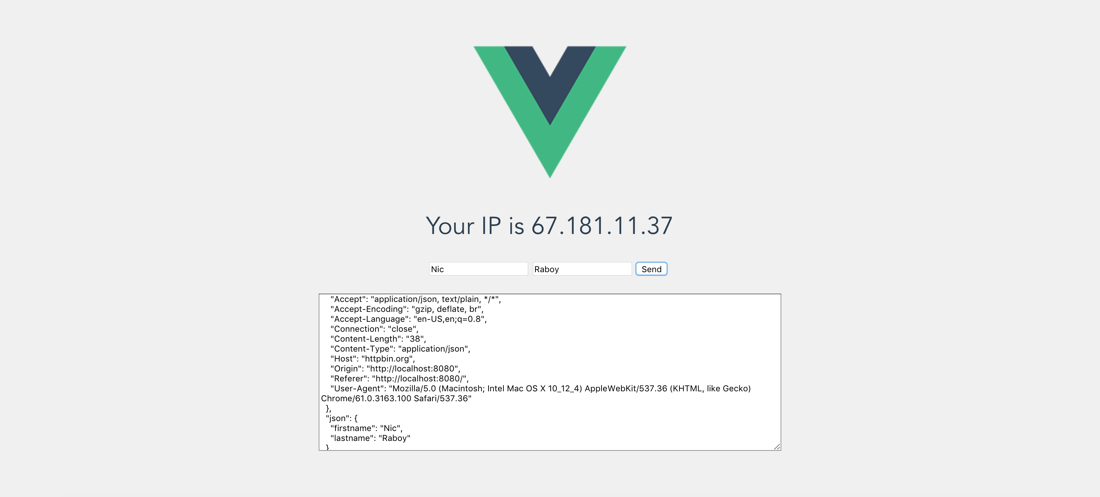 Consume Remote API Data Via HTTP In A Vue js Web Application