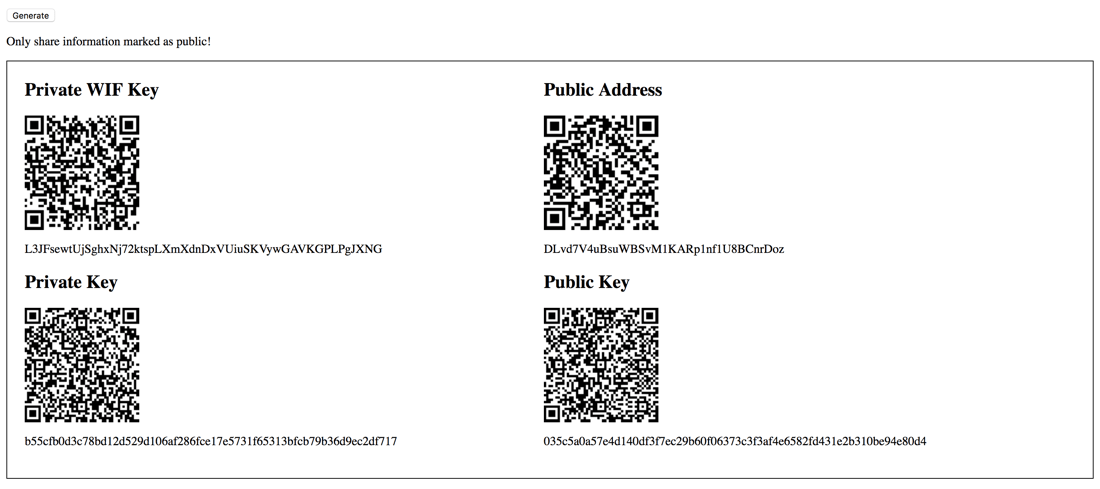 DigiByte DGB Paper Wallet with Vue.js