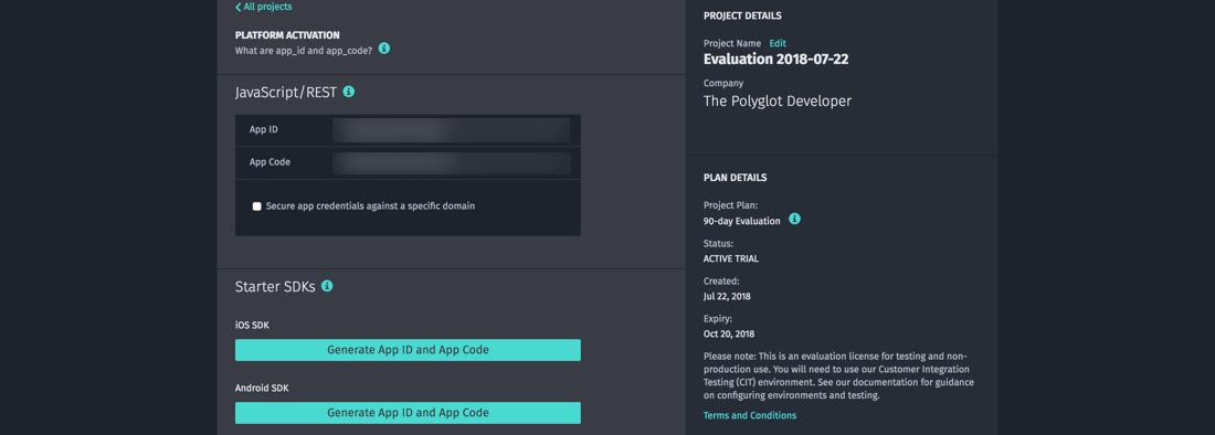 HERE Development Project Dashboard