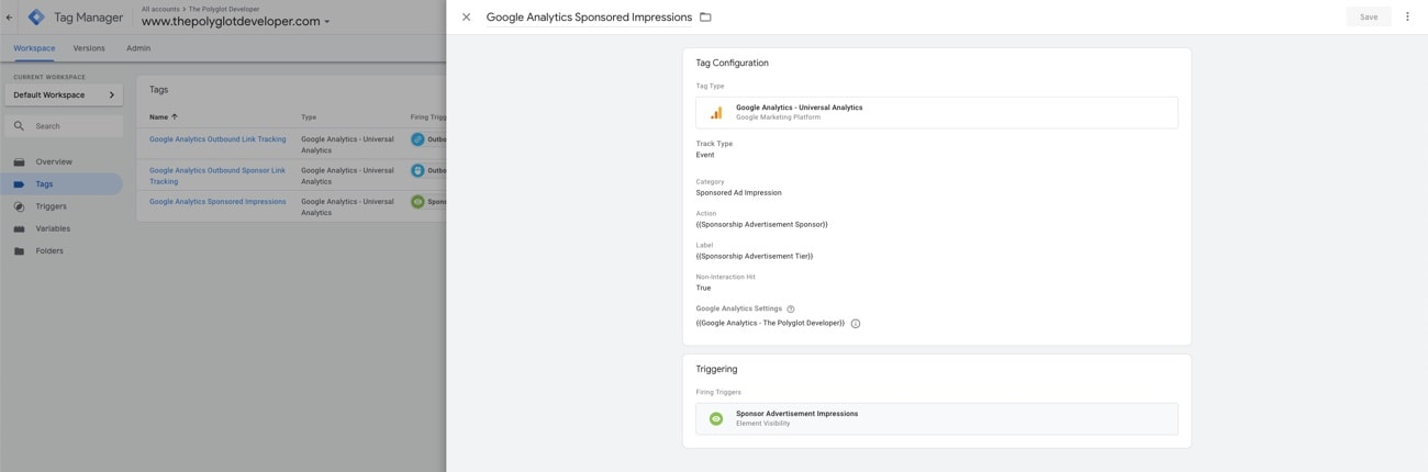 Google Tag Manager, Google Analytics Variable