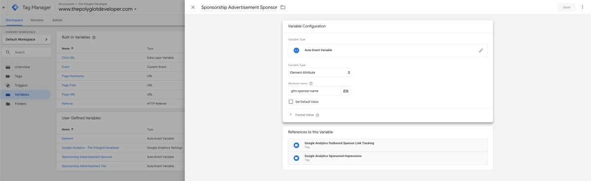 Google Tag Manager, Auto-Event Variable