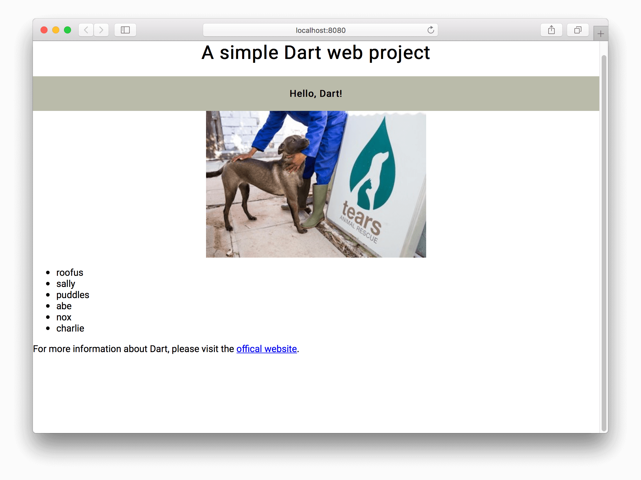 Building a Simple Web Application in Dart